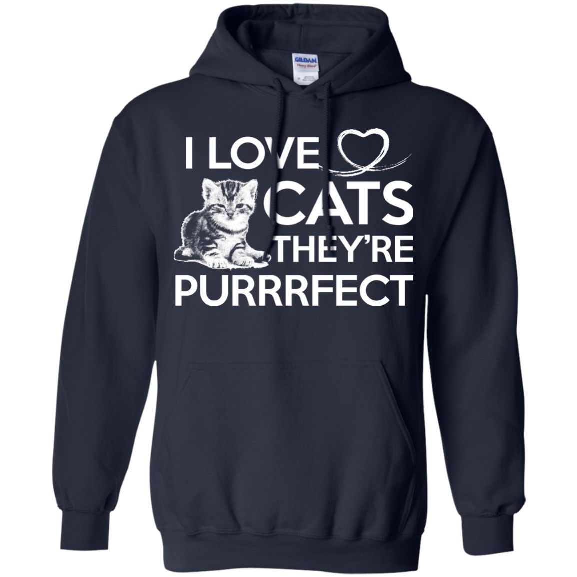 I love cats thyure purrrfect perfect hoodie products pinterest