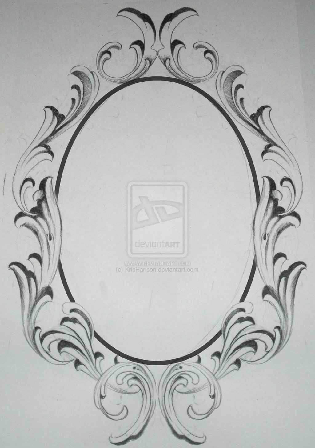 Gallery Images And Information: Oval Filigree Frame Tattoo | Inspire ...