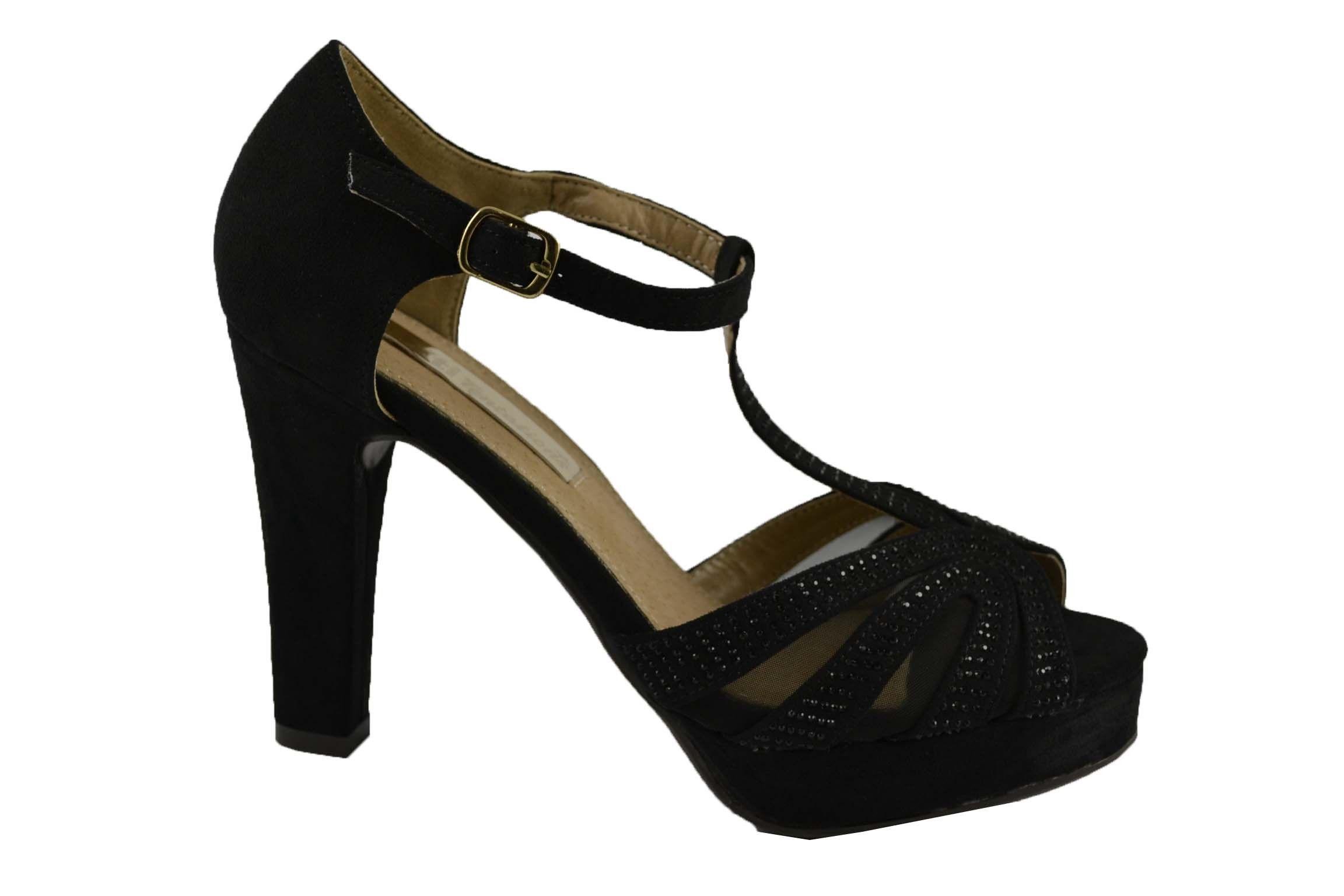 214ee7db Zapatos De Fiesta Con Tacón Alto Forrado De 10cm. XTI | Zapatos ...