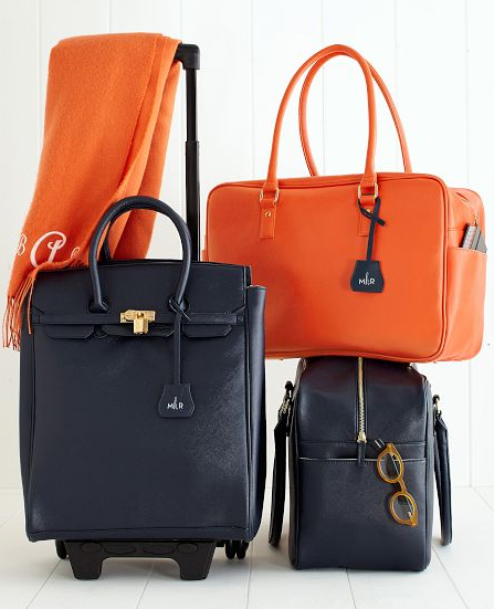 cute carry-ons -- (11/16/13) Audrey Rolling Tote: $299; Audrey Boarding Bag: $225