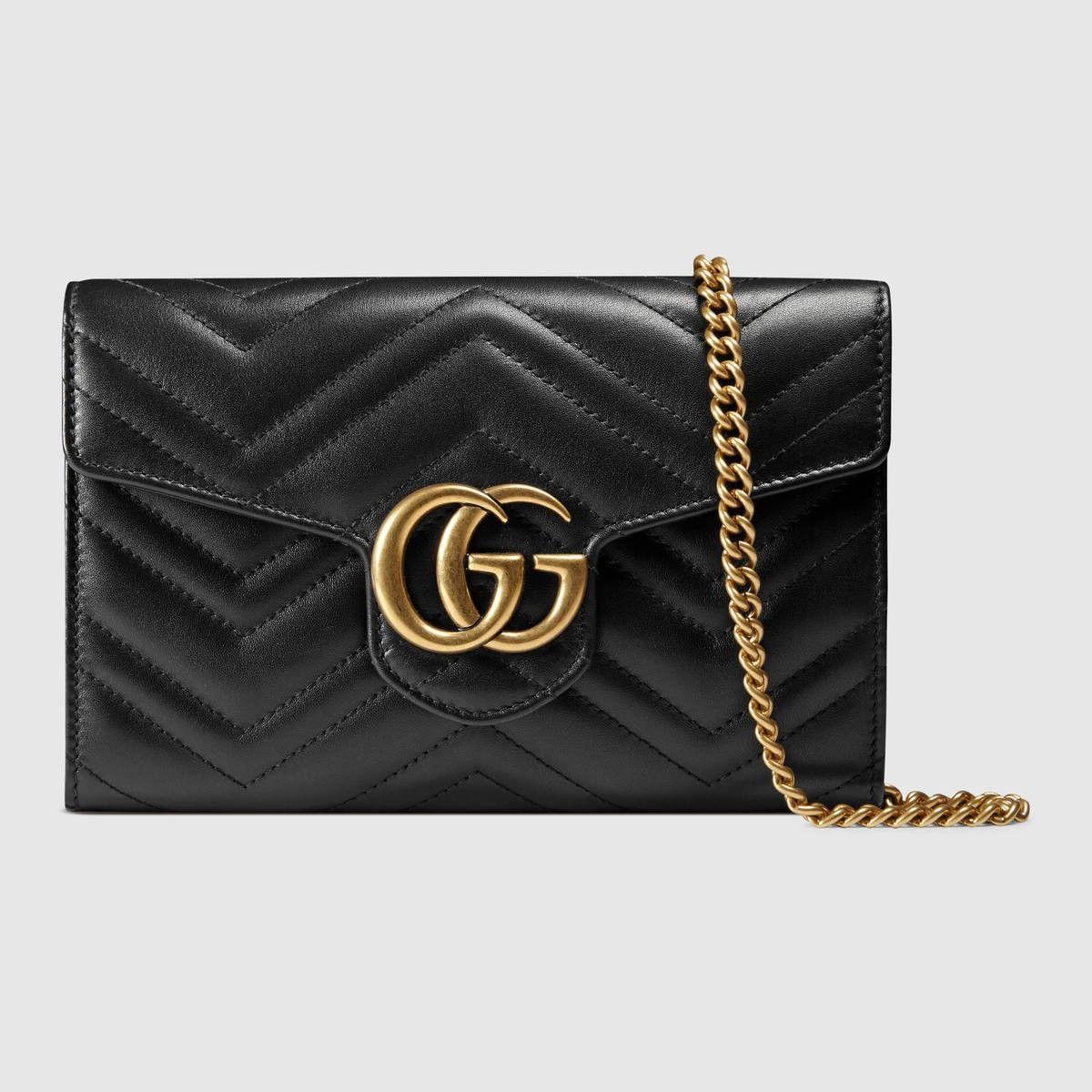 a305294fdd5 GUCCI Gg Marmont Matelassé Mini Bag - Black Leather.  gucci  bags  shoulder  bags  wallet  leather  accessories