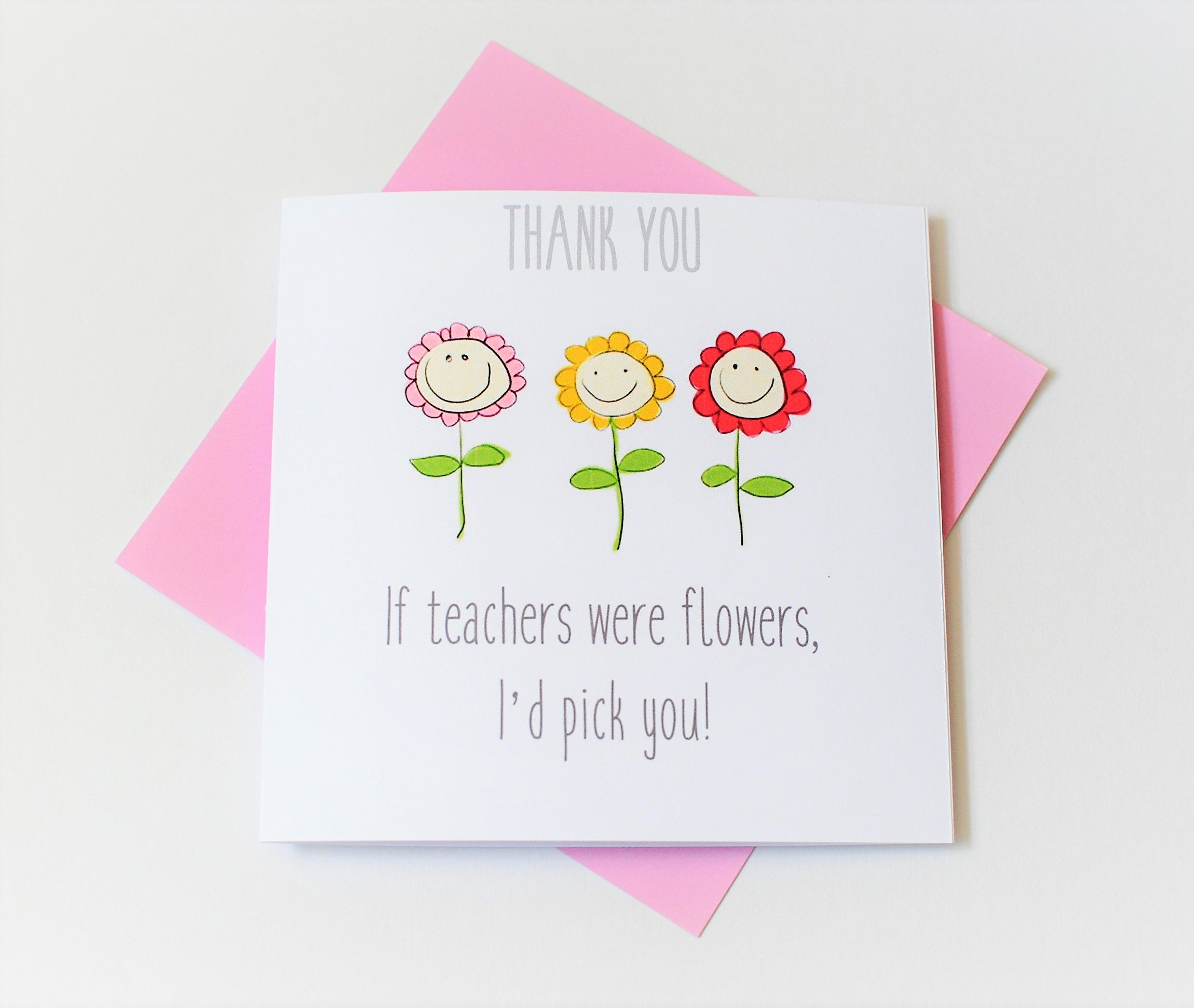 Cute Teacher Card Good One Pinterest Teacher Thank You Cards