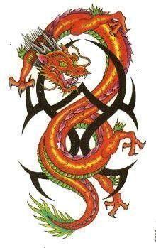 Tribal Dragon Tattoo Dragons  Tattoos Image Tribal Dragon Tattoo    Brown Tribal Dragon Tattoo Dragons  Tattoos Image Tribal Dragon Tattoo   B   Brown Tri Brown Tribal Dr...
