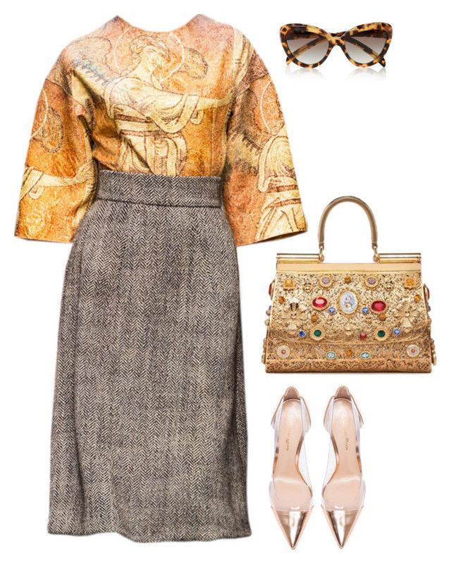 Senza titolo #4591 by marcellamic on Polyvore featuring polyvore fashion style Gianvito Rossi Prada Dolce&Gabbana clothing