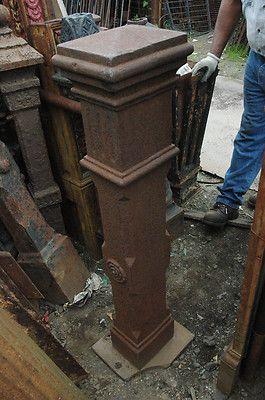 Antique Cast Iron Newel Posts Large Square Posts Ebay Antique Cast Iron Newel Posts Antiques