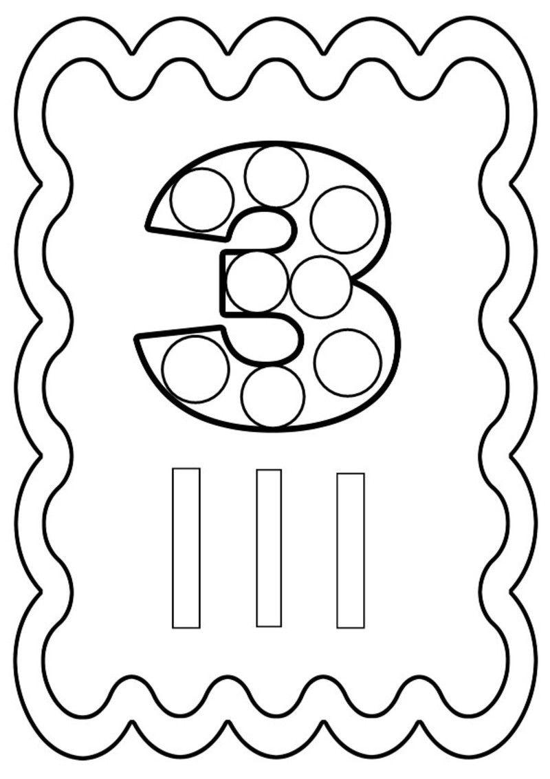 chiffre 3 colorier ou gommettes imprimer en fichier pdf cliquez acrobat