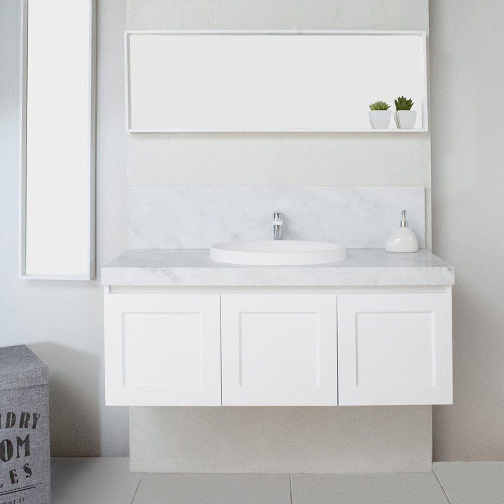 White London Custom Made Wall Hung Vanity | Romantic Cottage ...