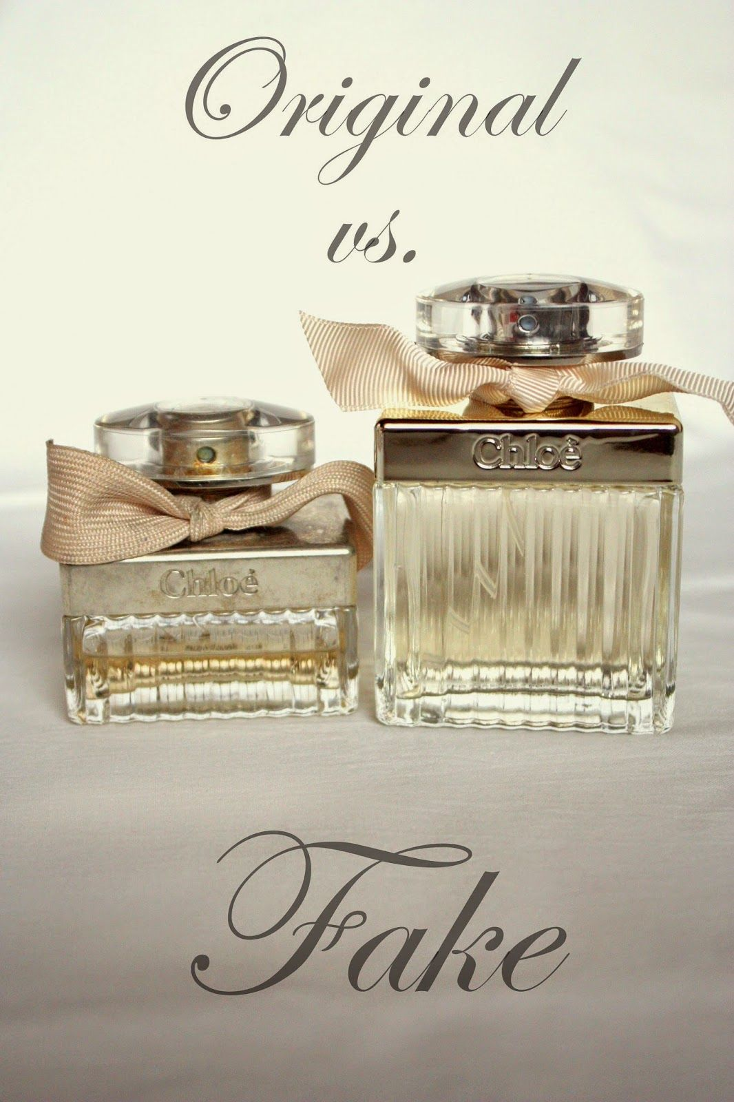 Original vs. Fake Chloe Perfume