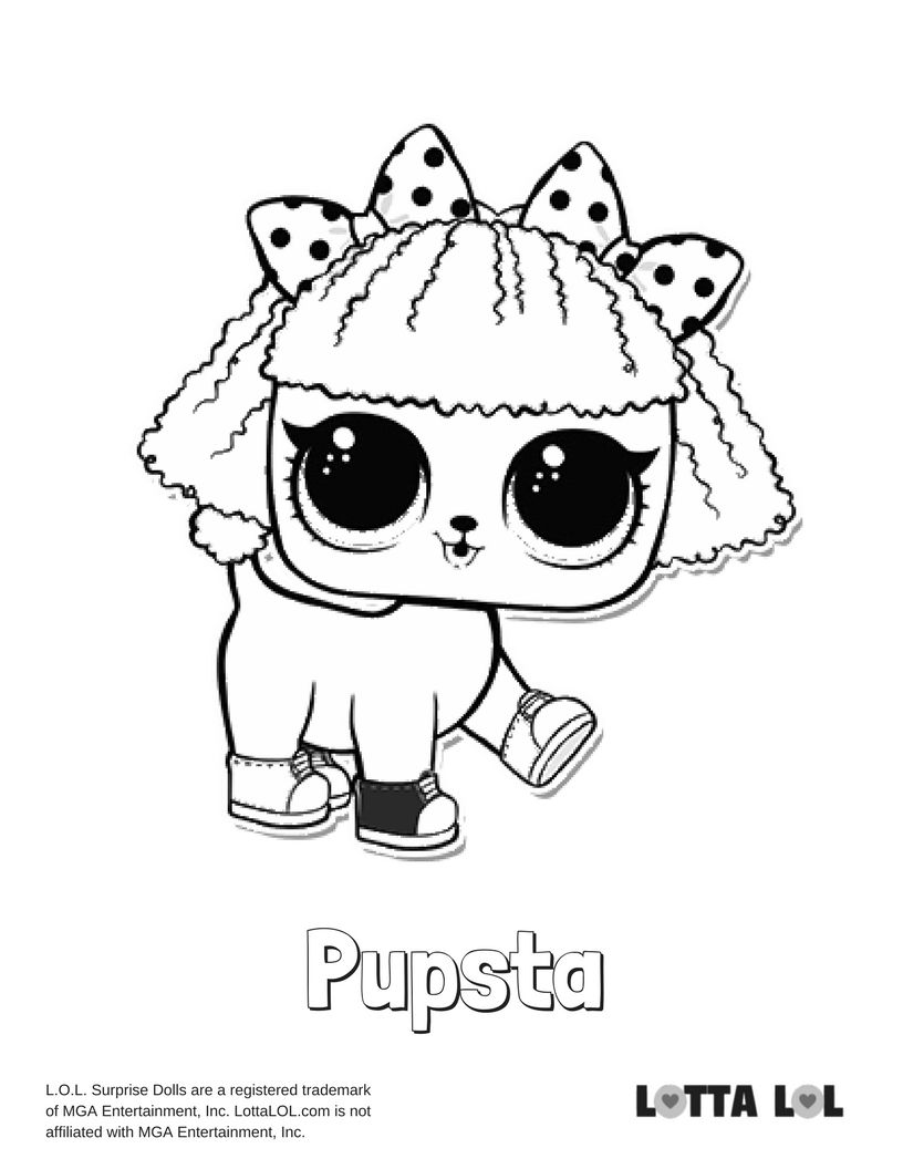 Pupsta Coloring Page Lotta Lol Lol Dolls Coloring Pages Kids