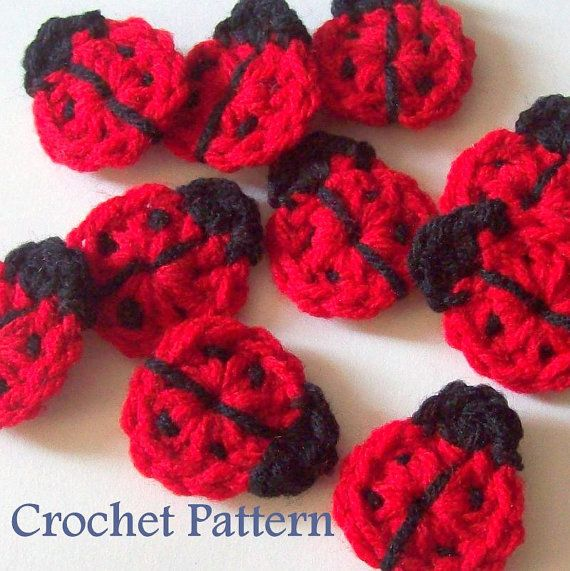 "Handmade Crochet 3 Flower Red Appliques Embellishment DIY Craft 4/"" Decor Gift"