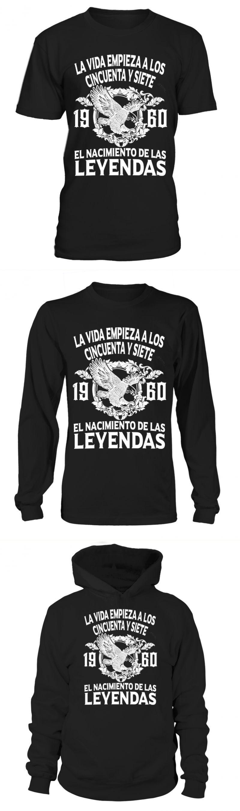 New years eve t shirts la vida empieza a los 57 1960