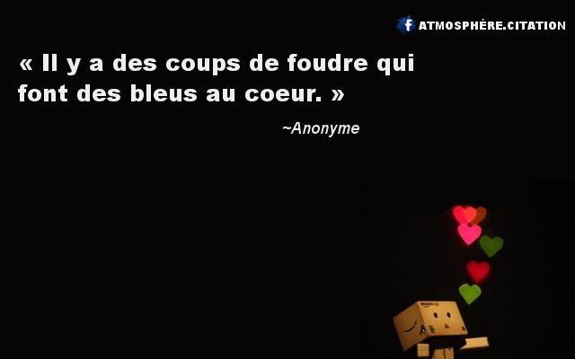 Il Y A Des Coups De Foudre Qui Font Des Bleus Au Coeur Citation