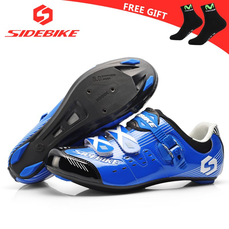 Sidebike Road Cycling Shoes Men Racing Shoes Road Bike Pedals Self Locking Bicycle Sneakers Breathable Professional Athletic Red Bisiklet Ayakkabilar