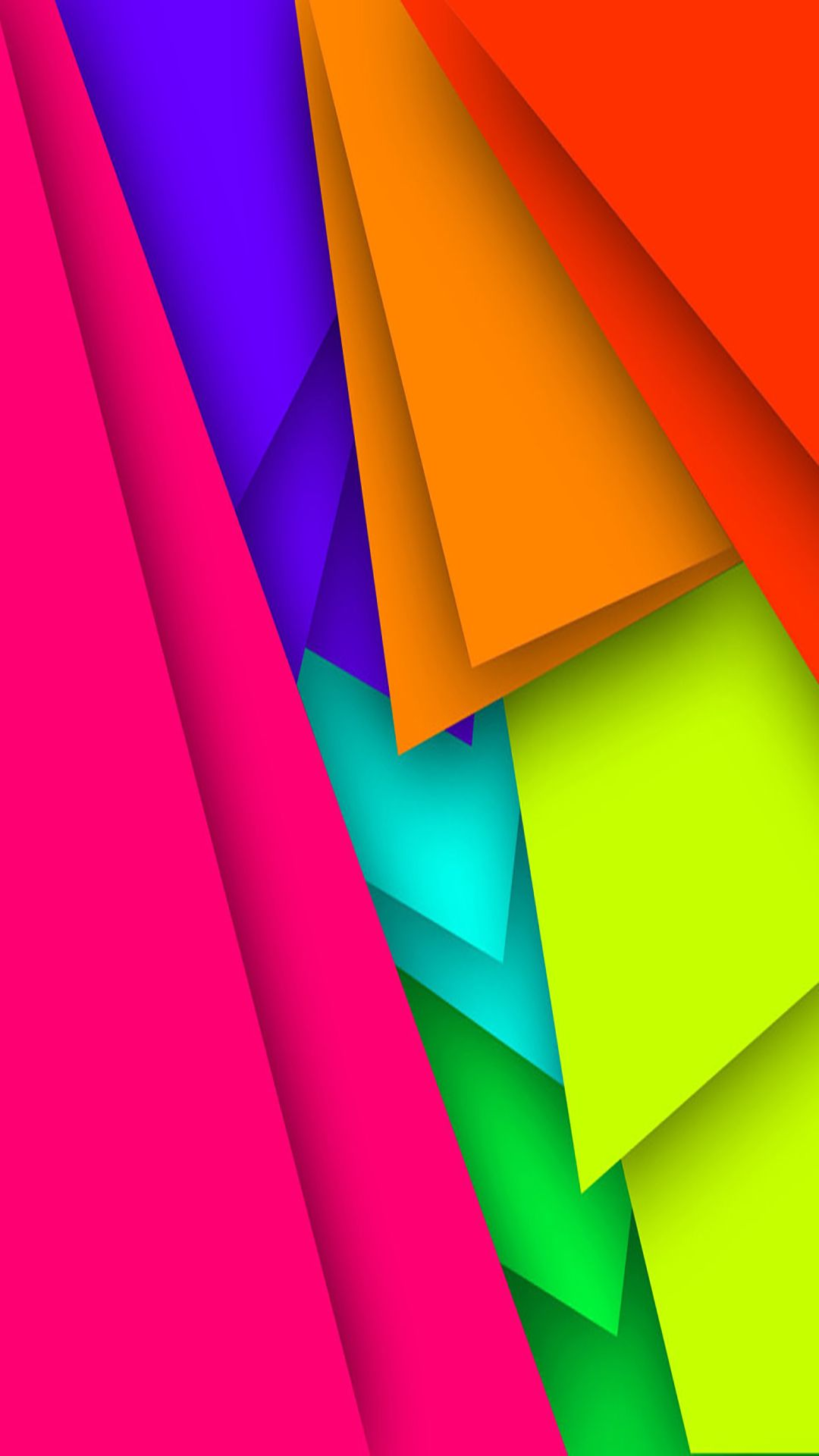 Free Colorful Geometric Wallpaper: Bold Colorful Abstract Art Wallpaper
