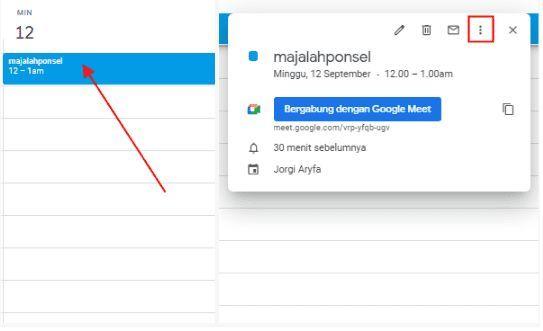 mengganti host di google meet