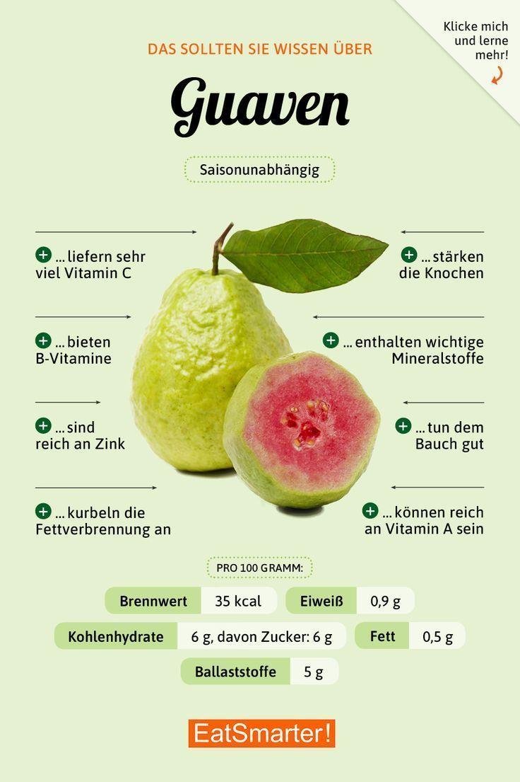 Dies solltest du per Guaven über Kenntnisse verfügen | eatsmarter.de #ernährung #infografik #guaven...
