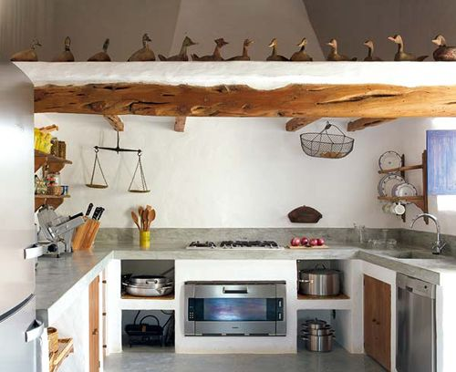DREAM HOMES   THE STYLE FILES   Rustic kitchen made of ...