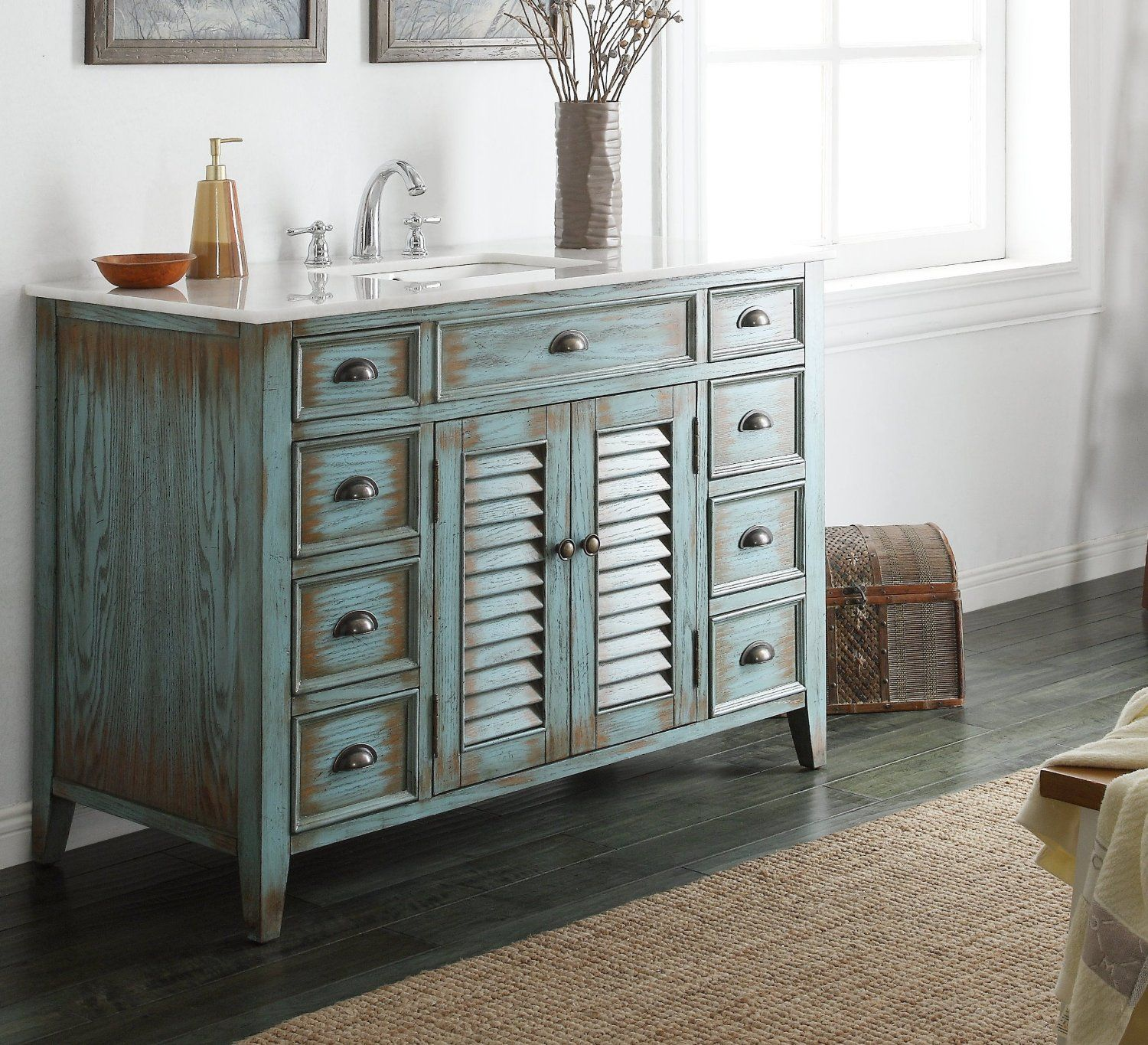 25 rustic bathroom vanities to make your bathroom look for Looking for bathroom vanities