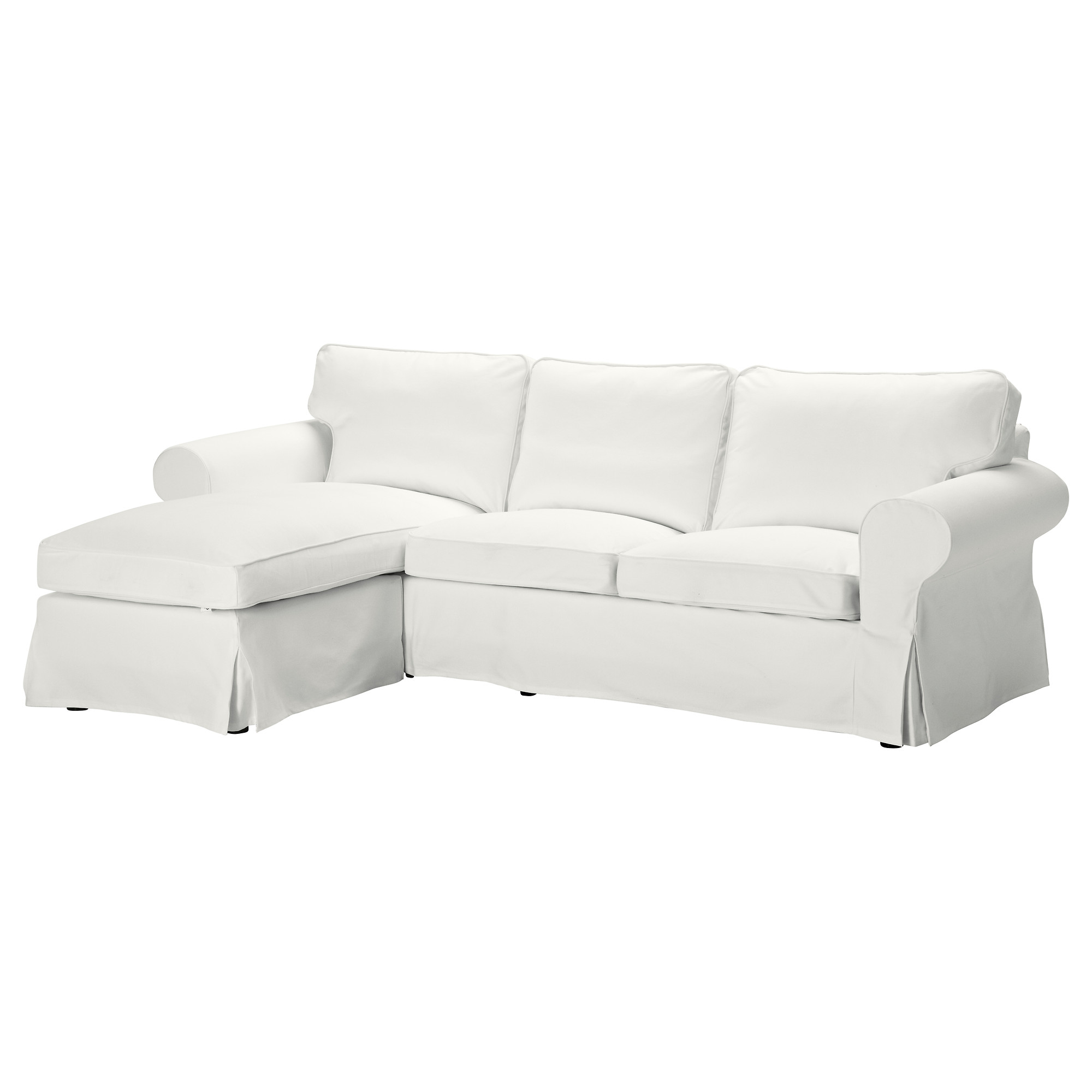 Living Room   $499 EKTORP Loveseat And Chaise Lounge   Blekinge White   IKEA