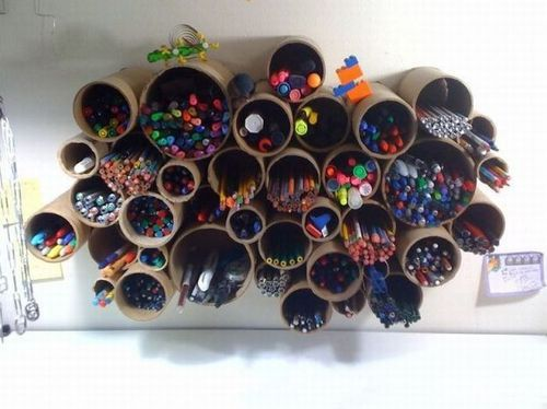 Wall Mounted Pen Pencil Holders Creative Storage Diy Pencil