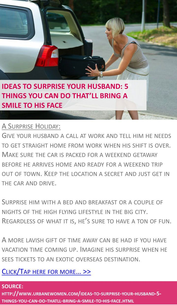 Ideas to surprise your husband: 5 things you can do that\'ll bring a ...