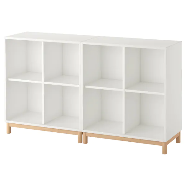 estanteria modular blanca con patas abedul ikea