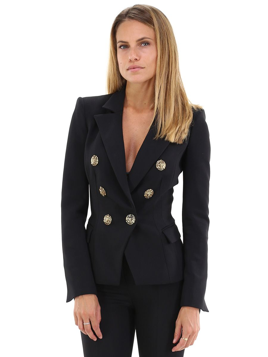 fronzolo appendere fungo  Giacca Nero Elisabetta Franchi - Le Follie Shop | Double breasted suit  jacket, Double breasted suit, Fashion