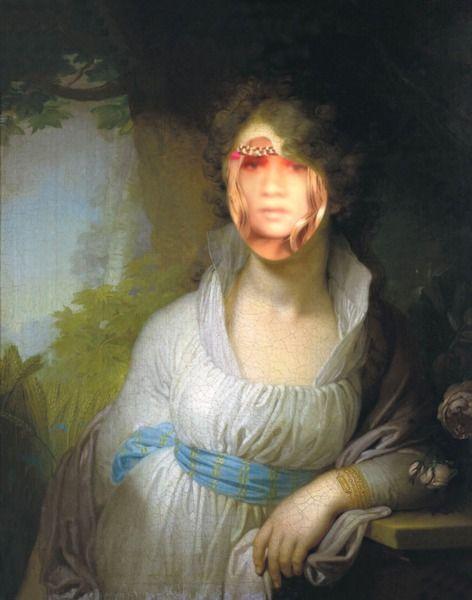 Maria Lopuhina (№77) - funny face in hole effect - PhotoFaceFun.com