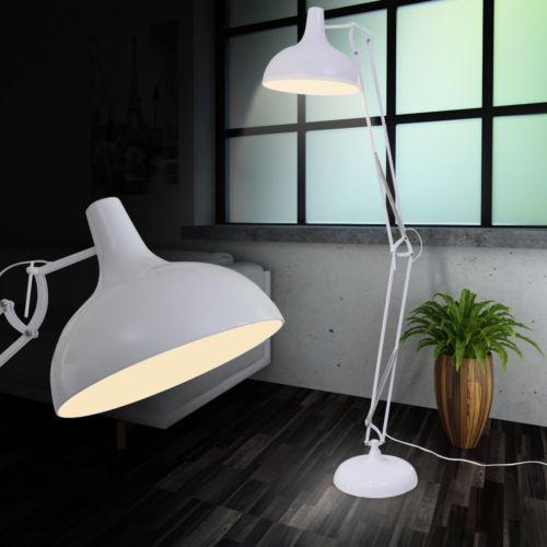 Design LED Steh leuchte Standlampe Büro Leselampe Wohnzimmer