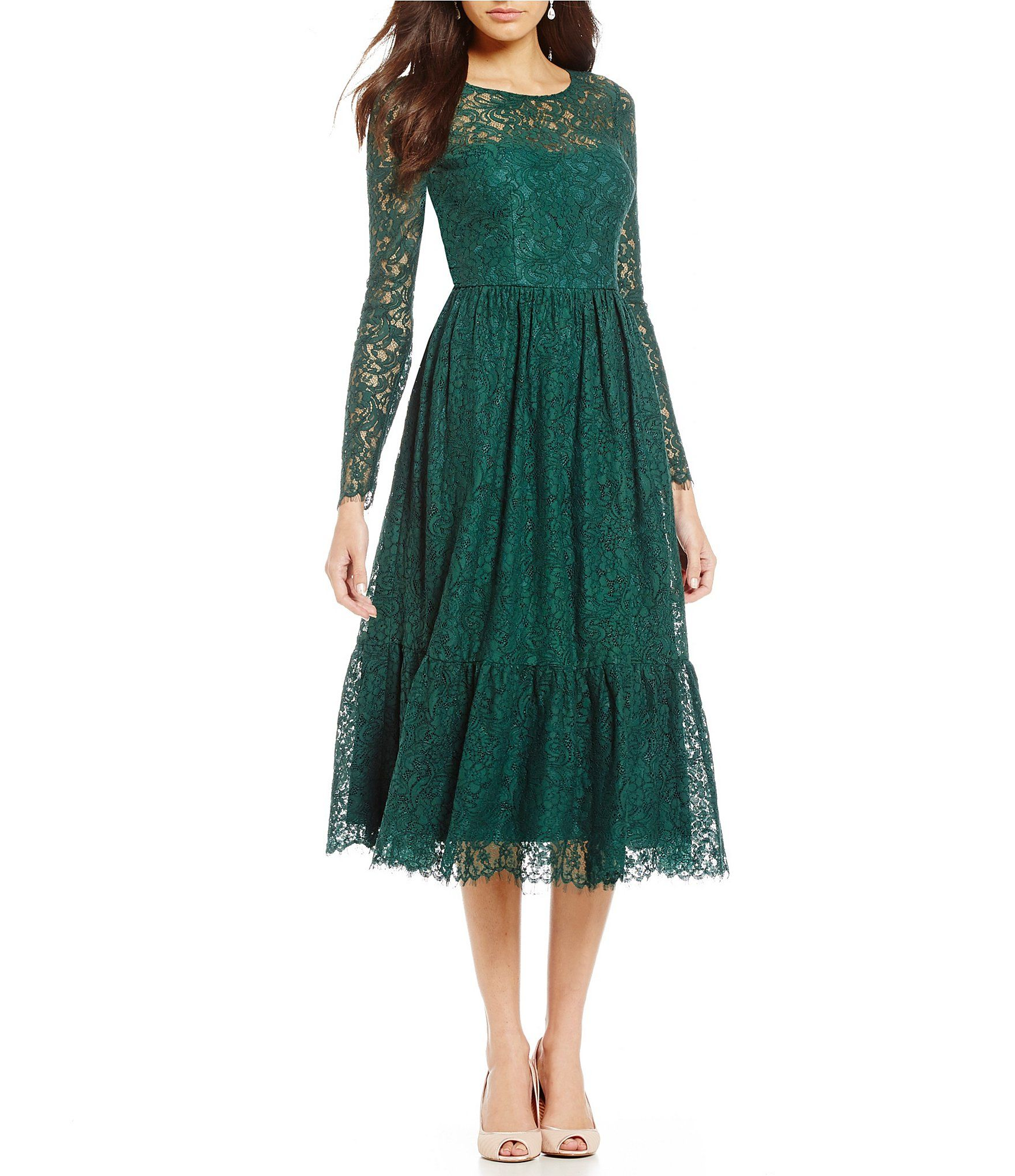 9ea8d64f892 Shop for Adrianna Papell Long Sleeve Lace Midi Dress at Dillards.com. Visit  Dillards.com to find clothing
