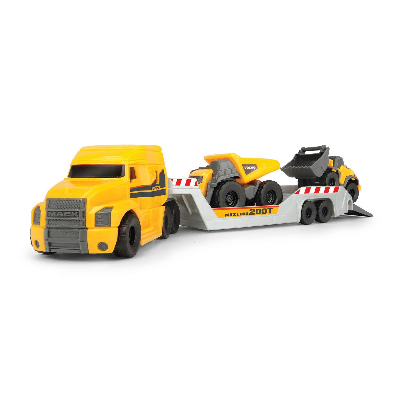 Dickie Volvo Micro Transporter Met Werkvoertuigen Bouwvoertuigen Vrachtwagens Volvo