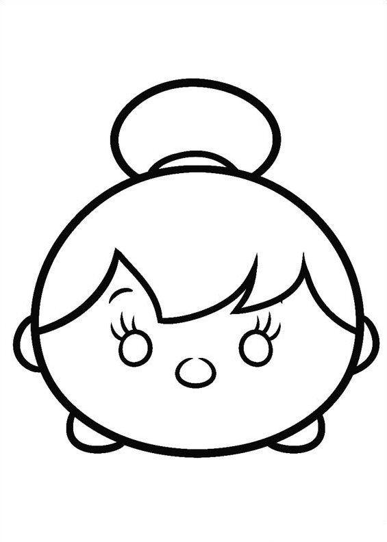 Disney Tsum Tsum Para Colorear Tinkerbell Con Imagenes Tsum
