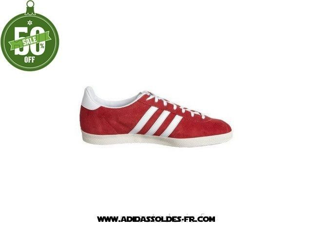 adidas gazelle blanche rouge