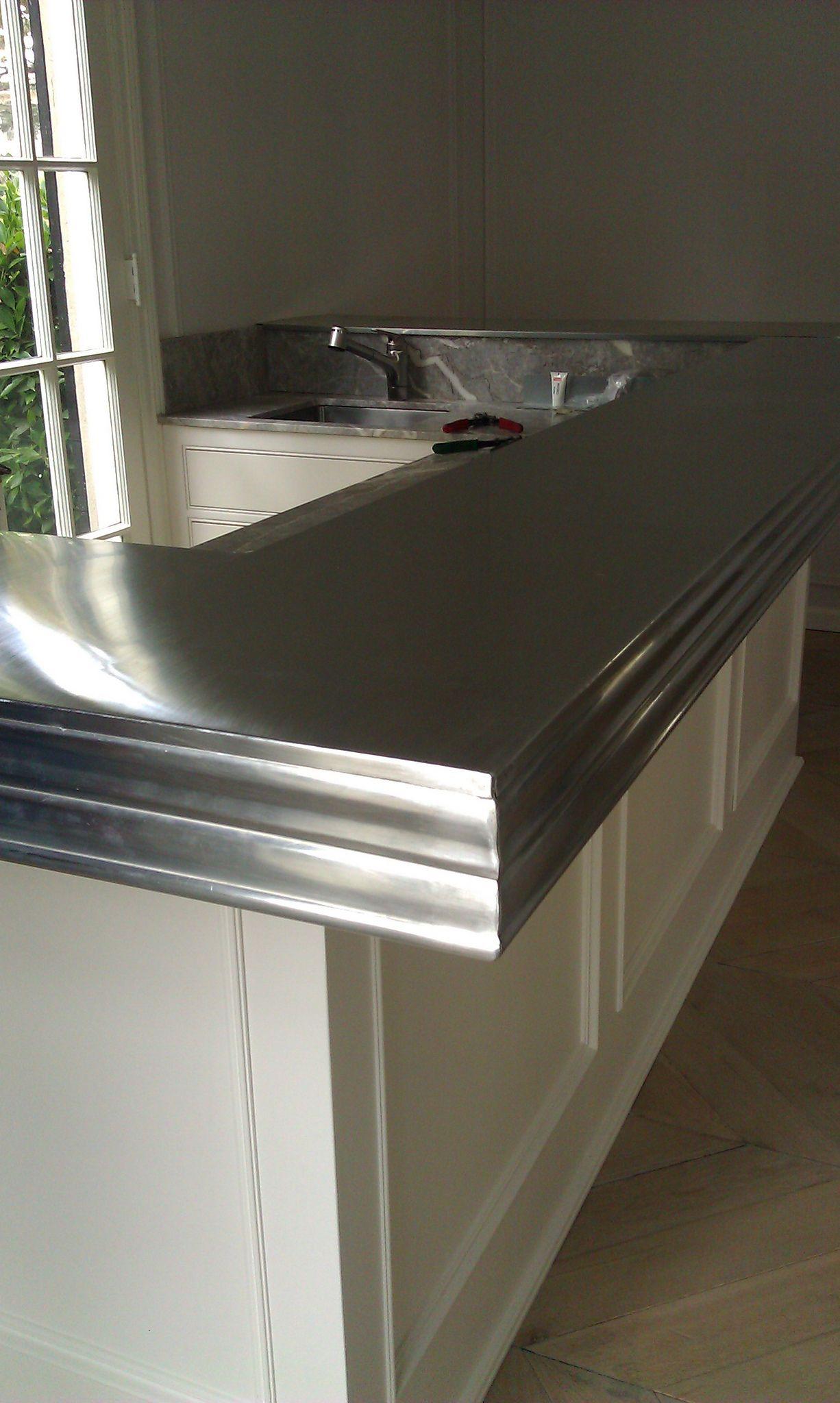 Amazing Zinc Countertop In 2019 Kitchen Countertops