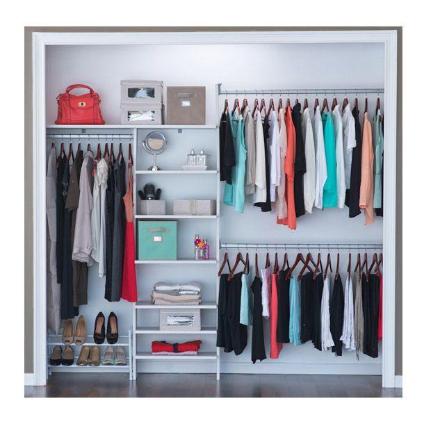 Closet esencial 246 cm blanco touch entrepa os for Closet con zapatera