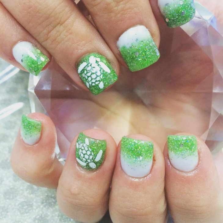 Sea Turtle Nail Art Turtle Nails Turtle Nail Art Beach Nails