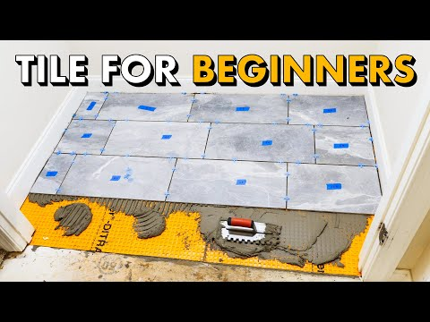 Installing Tile Floor For The First Time How To Lay Tile Floor Youtube In 2020 Installing Tile Floor How To Lay Tile Tile Floor Diy