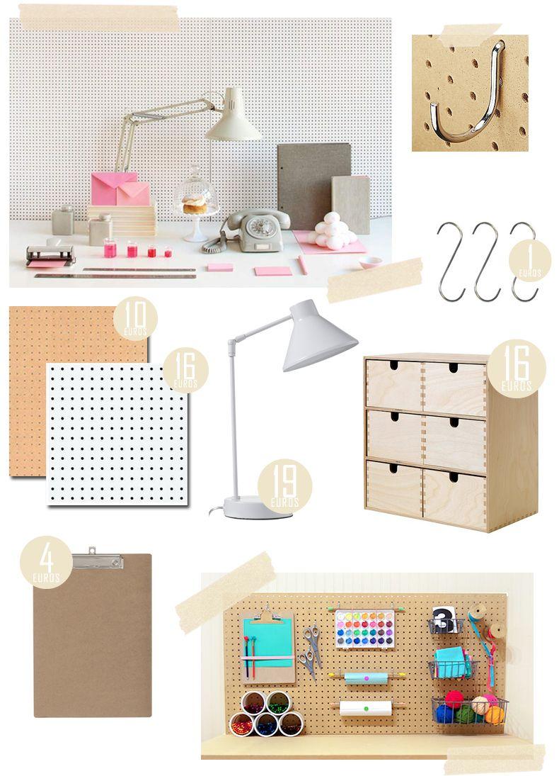 panneau isorel accessoires orga bureau. Black Bedroom Furniture Sets. Home Design Ideas