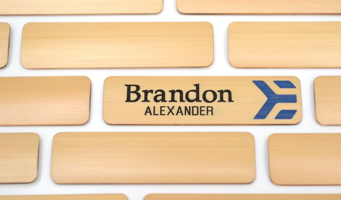 we make custom bamboo name badges from bamboo growing in durham nc