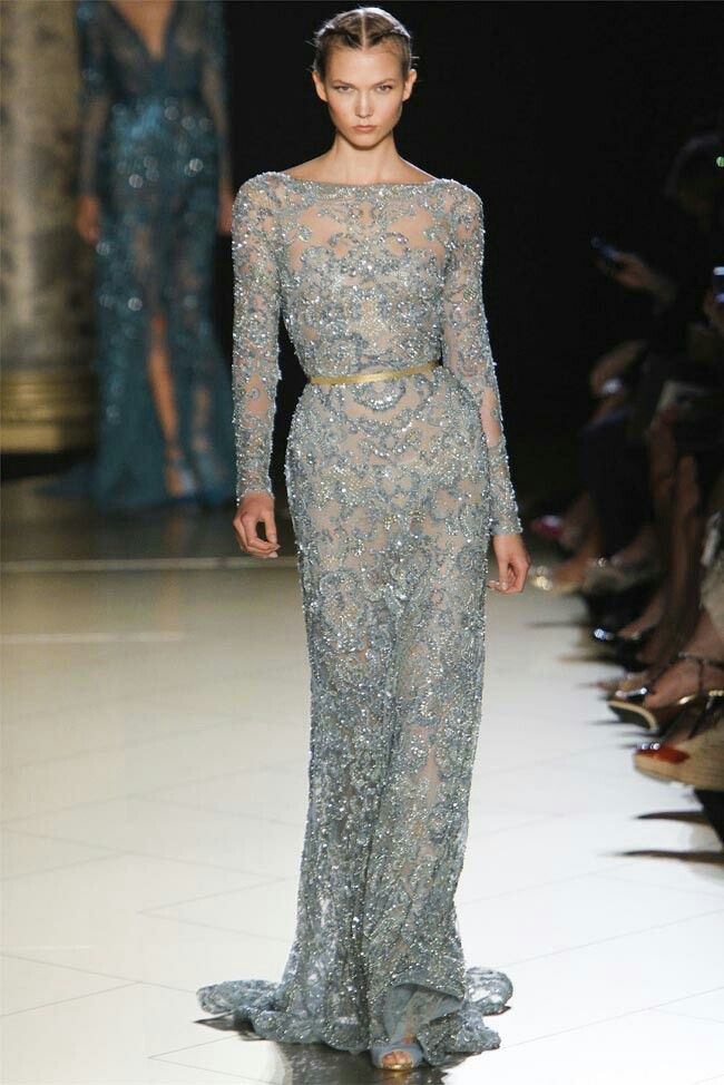 Sheer sequin gown heaven