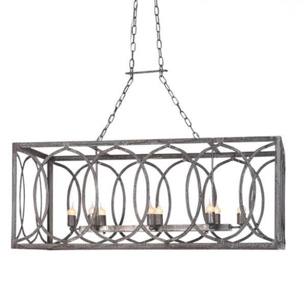 New Orleans Linear Lantern Rectangular Chandelier Kitchen Lighting Chandelier