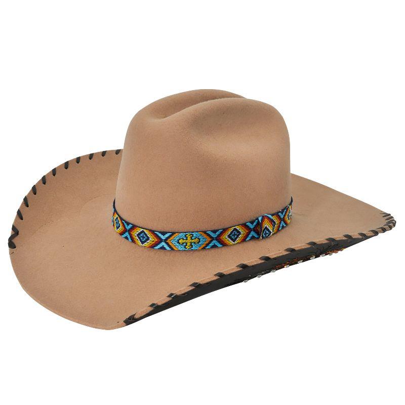 Chapéu Eldorado Feather American - Fabricado em feltro na cor bege. - Copa  Western de 66b8dc707c5