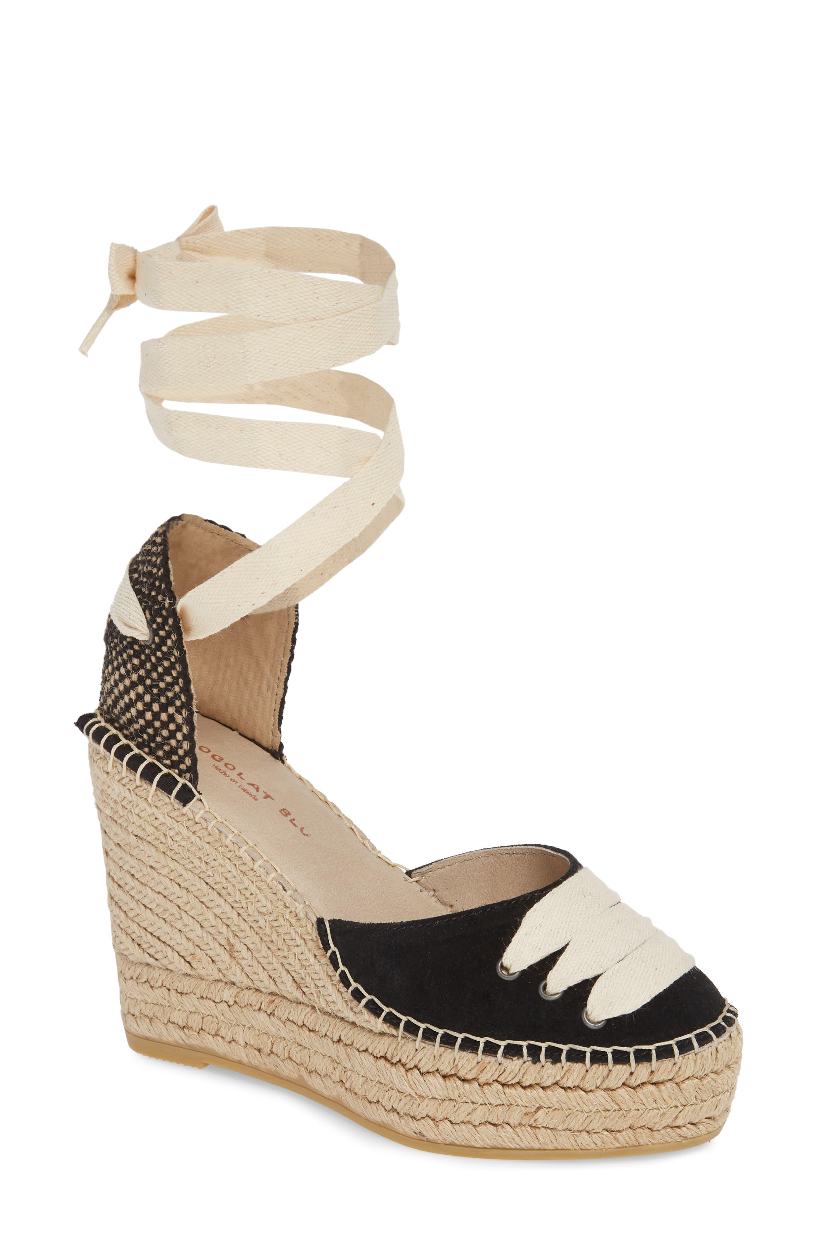cc6a30efdd71c Women's Chocolat Blu Alma Ankle Wrap Wedge Espadrille, Size 9-9.5US ...