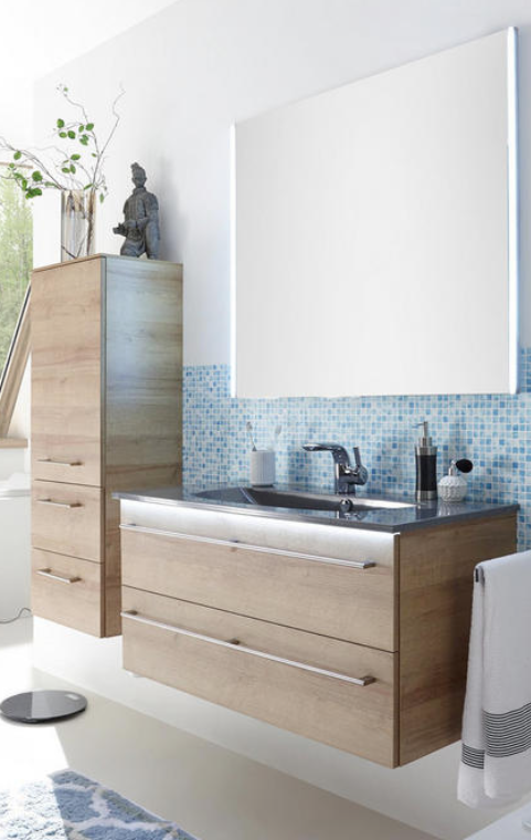 Badezimmer Athen Badinspiration Badmobel Aus Holz Badschrank