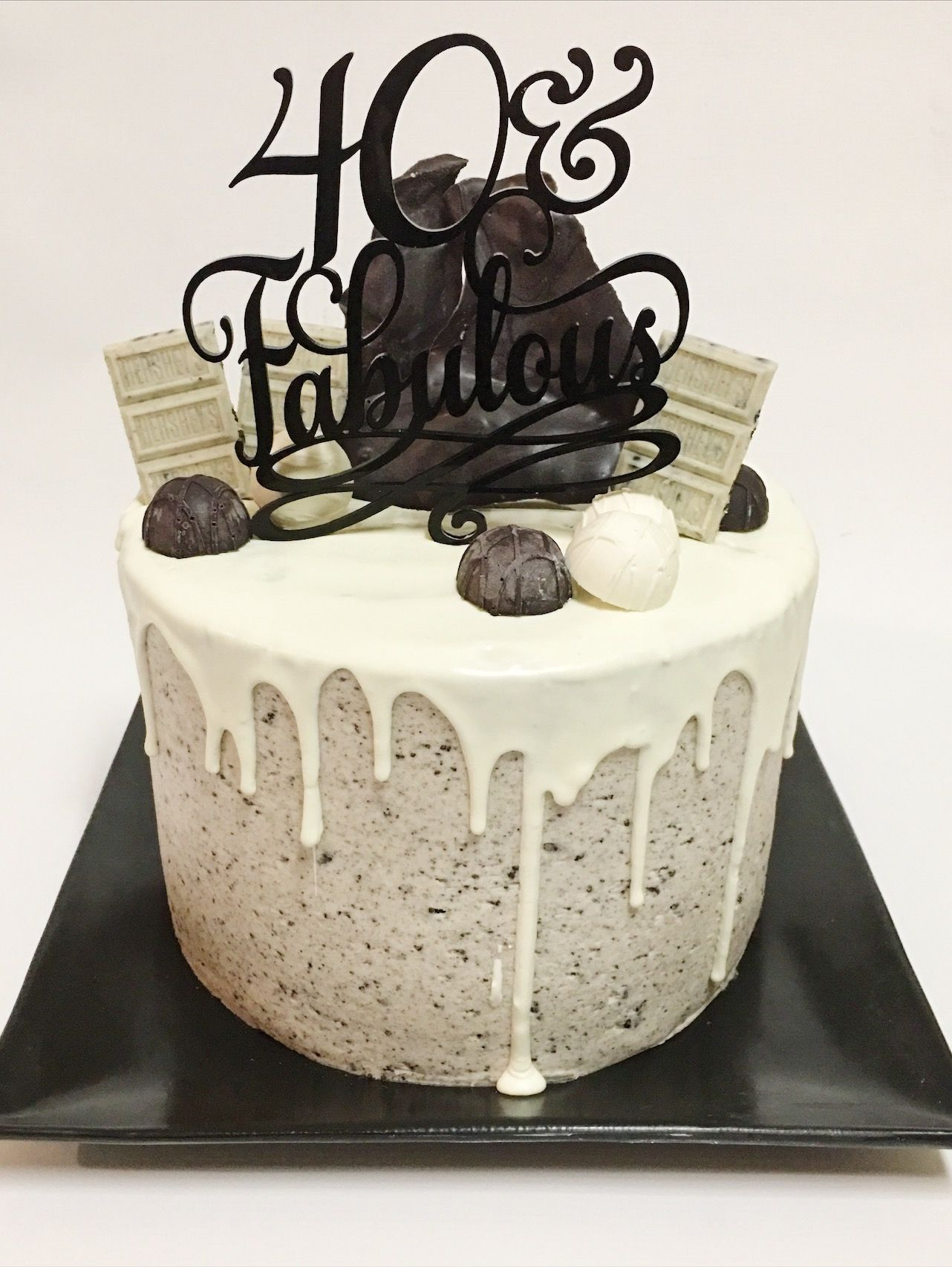 Custom Milestone Birthday Cake by A Little Slice of Heaven Bakery in