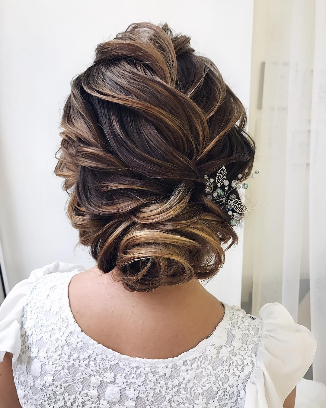 Textured wedding updo hairstyle ,messy updo wedding hairstyles ,chignon , messy updo hairstyles ...