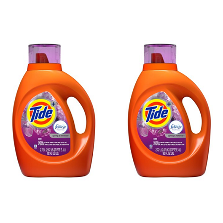 2 Pack Tide Plus Febreze Freshness Spring And Renewal Scent Turbo
