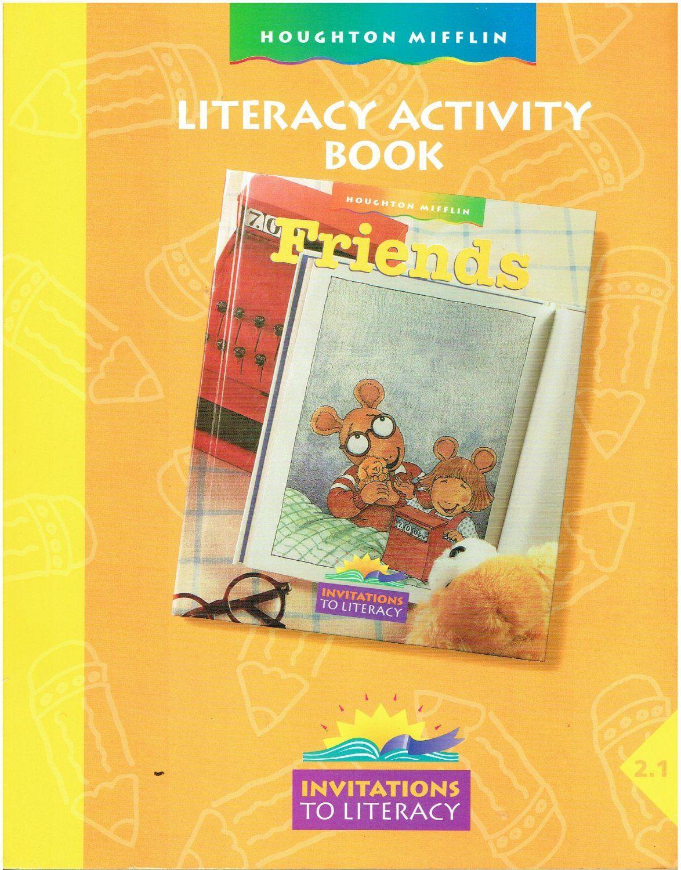 Houghton Mifflin Literacy Activity Book Friends 2 1 2nd Grade Workbook Isbn 039572483x La2 Literacy Activities Book Activities Literacy