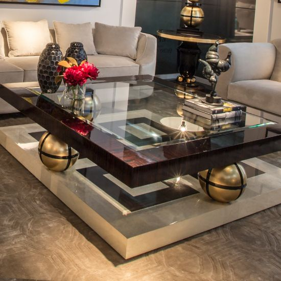 High End Square Ebony Coffee Table - Juliettes Interiors ...