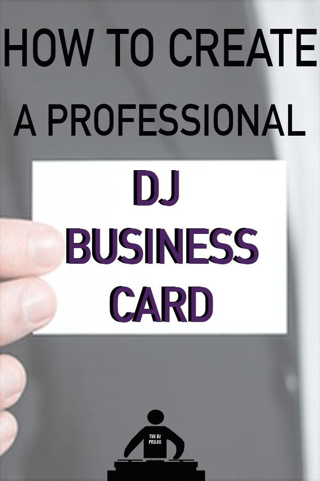 How To Create A Professional DJ Business Card - Step By Step | Dj ...